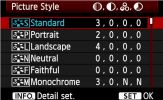 Picture Style Presets