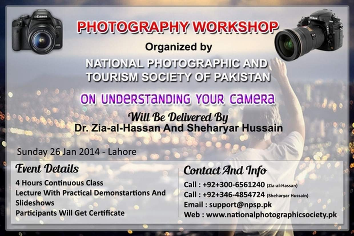 01. Photography Workshop In Lahore Pakistan On Understanding Your Digital Camera