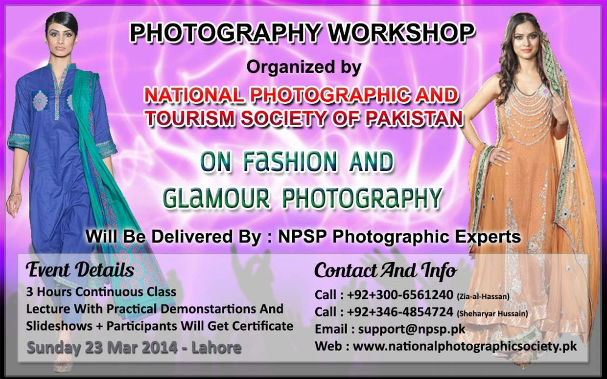 03. Photography Workshop In Lahore Pakistan On Fashion And Glamour Photography