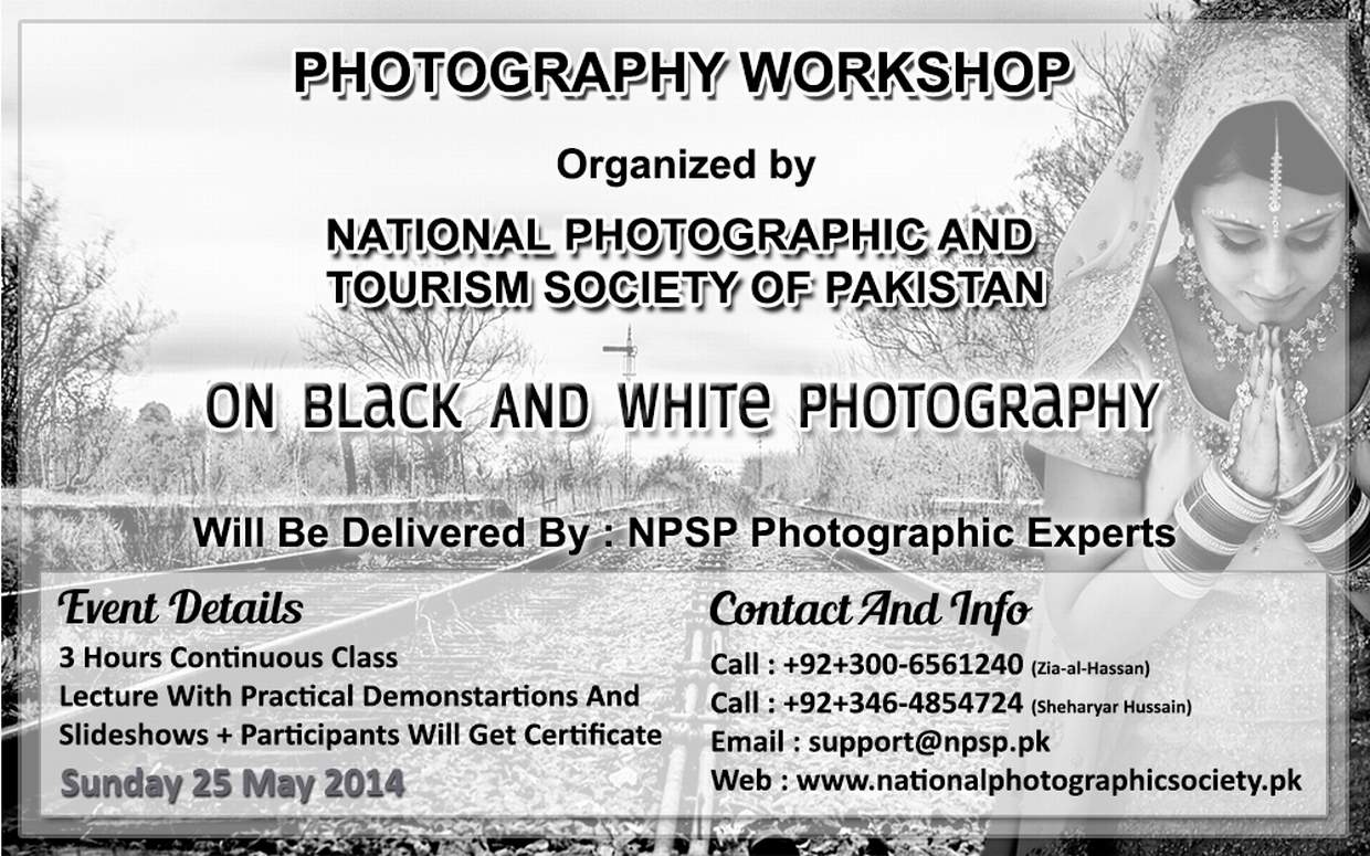 05. Photography Workshop In Lahore Pakistan On Black And White Photography