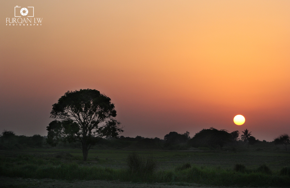 sunset in Village of Mirpur Sakro